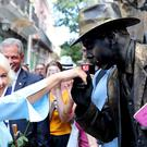The Prince of Wales and the Duchess of Cornwall visited Old Havana (Jane Barlow/PA)