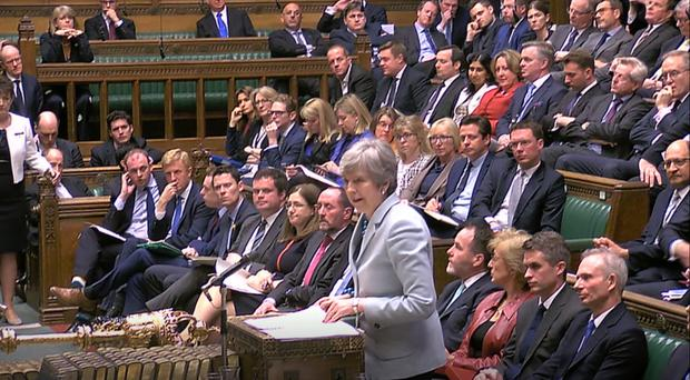 Prime Minister Theresa May makes a statement on Brexit to the House of Commons (Pa Wire)