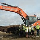 Construction of the UistWind project gets under way (Katie Laing/PA)