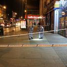 Part of High Road in Tottenham has been cordoned off (Tony Diver/PA)