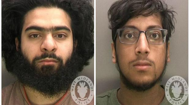 Safwaan Mansur and Hanzalah Patel have been convicted of being concerned in the commission, preparation and instigation of acts of terrorism (West Midlands Police/PA)