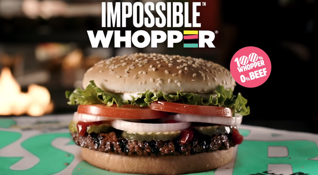 The plant-based Impossible Whopper is being trialled in the US (Burger King/PA)