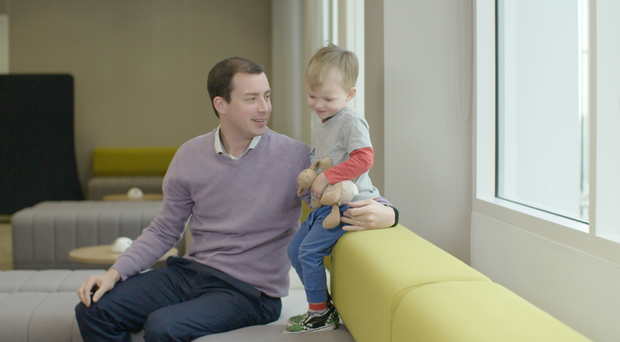 James Ashall has benefited from Diageo's parental leave policy (Diageo/PA)