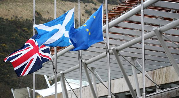 MSPs will meet on Thursday April 11 in a no-deal scenario, Mike Russell said (Jane Barlow/PA)