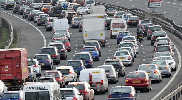 Heavy traffic is expected this weekend as many schools break up for Easter (Tim Ireland/PA)