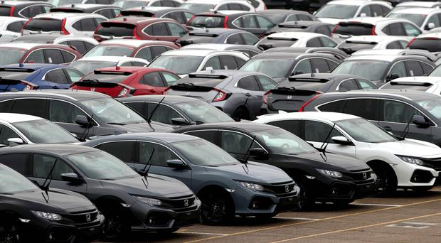 Sales of new cars fell by 3.4% in March (Andrew Matthews/PA)