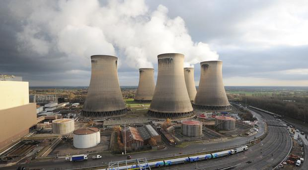 Bosses at the Drax power plant in North Yorkshire hope to 'repower' the site to burning gas (PA)
