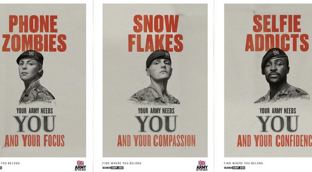 The Army's latest poster campaign was controversial when it launched in January (MoD/PA)