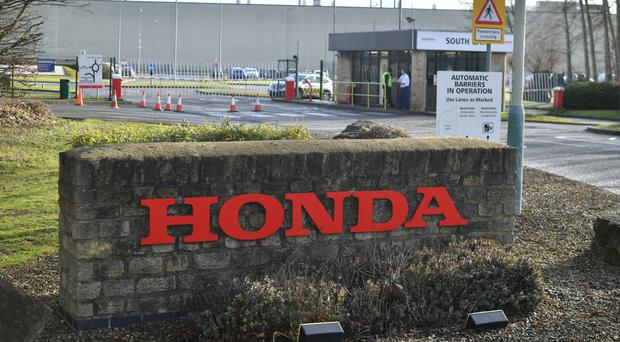Suppliers to Honda in Swindon will be among the first to be helped (PA)