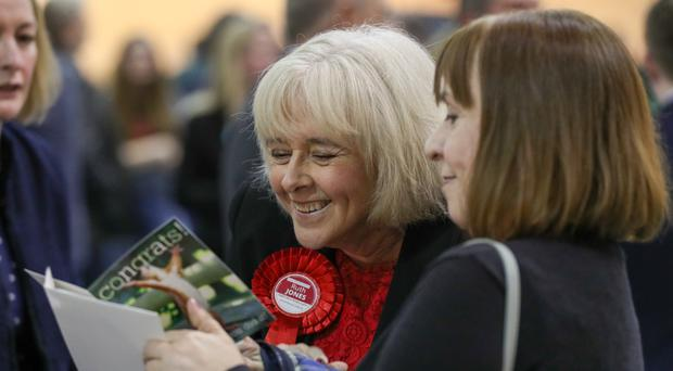 Ruth Jones won with a with a majority of 1,951 (Andrew Matthews/PA)
