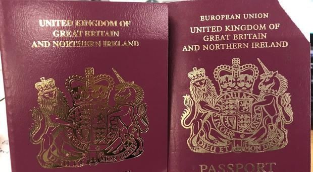 Photo from the twitter feed of SpinHBarone of her new passport (left) and her old passport (right) (@SpinHBarone/Twitter/PA)