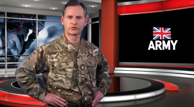 Chief of the General Staff General Sir Mark Carleton-Smith sends a video message after allegations of sexual assault by soldiers (British Army/PA)