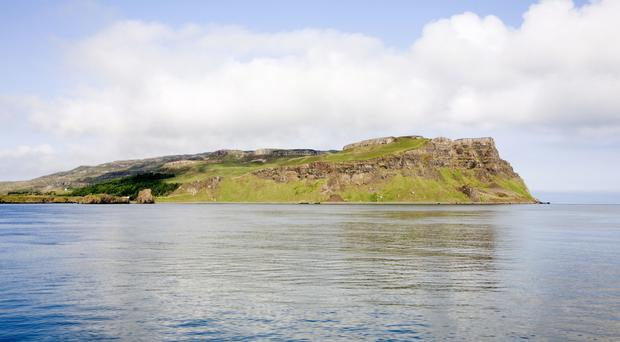 Islands Minister Paul Wheelhouse spoke about the consultation launch on a visit to Canna (National Trust for Scotland/PA)