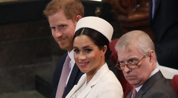 The Duke and Duchess of Sussex at the Commonwealth Day service (Kirsty Wigglesworth/PA)