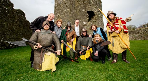 The Journeying Beyond Westeros team at Dundrum Castle to launch a heritage trail inspired by Game Of Thrones