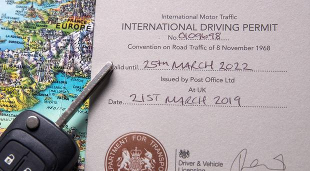 An International Driving Permit issued by the Post Office (Steve Parsons/PA)