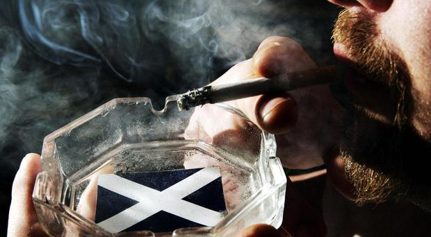 A fifth of Scotland's 32 local authorities have had an increase in the provision of tobacco since 2015(Andrew Milligan/PA)