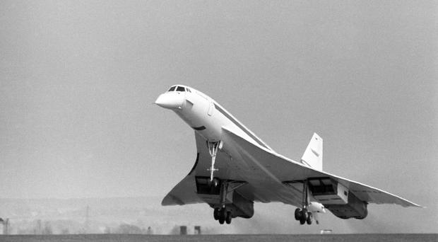 Concorde 002 taking off from Filton, Bristol, in 1969 (PA)