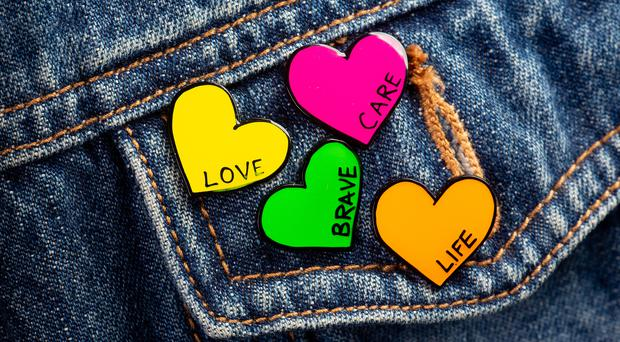 Christopher Kane designed the badges for the new Heart of Scotland campaign (Heart Research UK/PA)