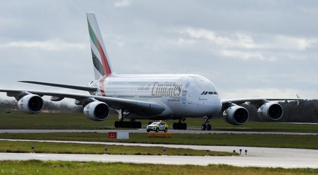 On April 16 the A380 will be used for the first regular service to Scotland (Rui Vieira/PA)