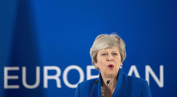 Prime Minister Theresa May holds a news conference after the European Council in Brussels where European Union leaders met to discuss Brexit (Stefan Rousseau/PA)