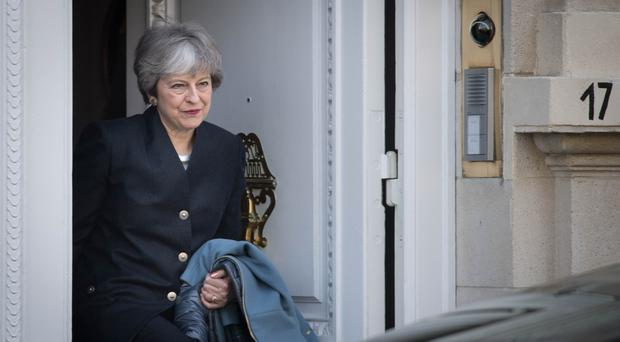 Prime Minister Theresa May leaves Brussels to return to the UK (Stefan Rousseau/PA)