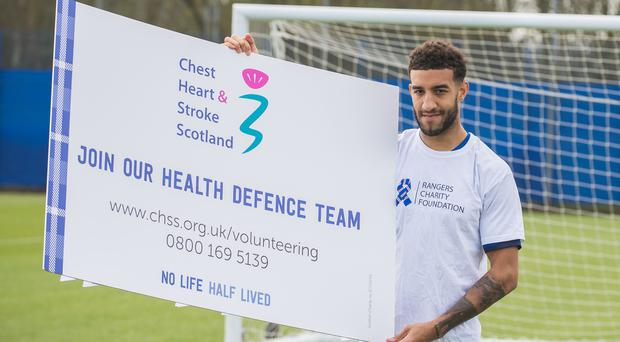 Connor Goldson backs the 'Health Defence' campaign (Chest Heart and Stroke Scotland/PA)
