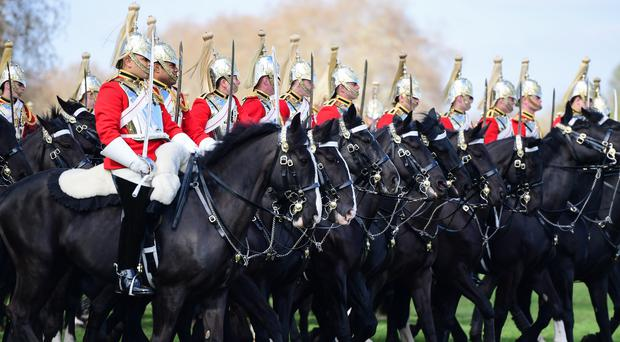 The Household Cavalry Mounted Regiment on parade for the Major General's Inspection in Hyde Park (Rebecca Brown/PA)