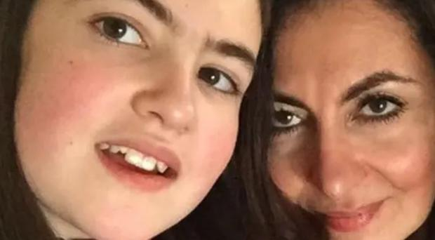 Laleh Shahraves, right, with her 14-year-old daughter Paris (Detained in Dubai/PA)