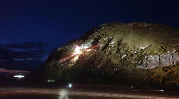 A multi-agency response was launched for the operation (North Berwick Coastguard Rescue Team/PA)
