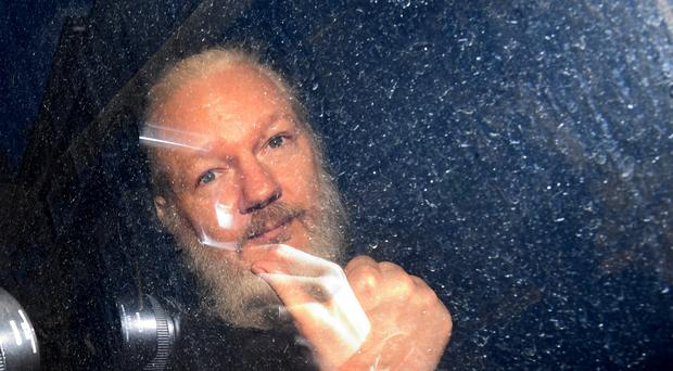 Julian Assange stayed at the Ecuadorian embassy for seven years (Victoria Jones/PA)