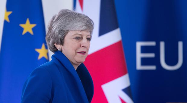 The analysis blamed Theresa May for creating the split in responsibilities between Number 10 and the Department for Exiting the EU (Stefan Rousseau/PA)