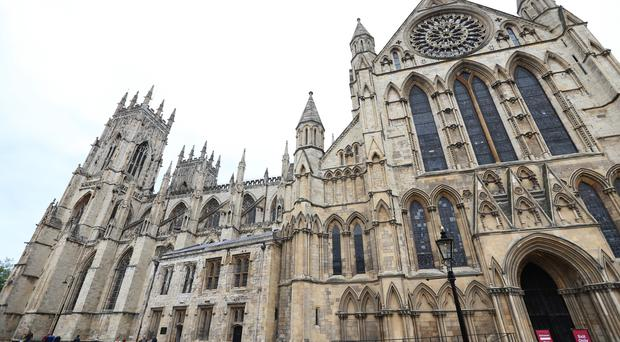 York Minster and its Rose Window which was in the affected part of the cathedral when fire struck in 1984 (Lynne Cameron/PA)
