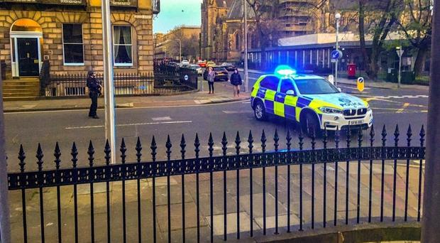 Police said the death is being treated as suspicious (Alasdair Morton/PA)