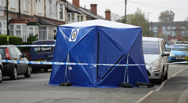 Scene of the shooting in Erdington, Birmingham (Aaron Chown/PA)
