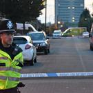 Police at the scene in Wolverhampton (Matthew Cooper/PA)