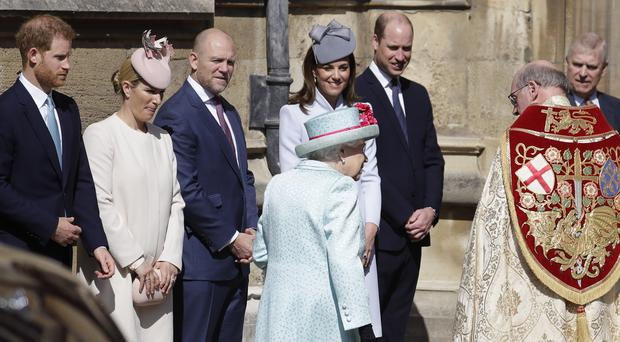 The Queen arrives at the Easter Mattins service (Kirsty Wigglesworth/PA)