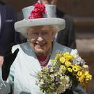 The Queen leaves the Easter Mattins service at St George's Chapel, Windsor Castle (Kirsty Wigglesworth/PA)