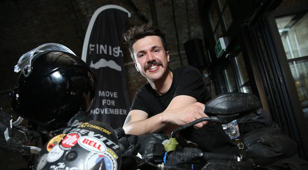 Henry Crew went round the world on a motorcycle (Isabel Infantes/PA)