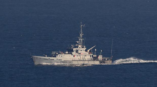 A Border Force cutter in the Channel (Gareth Fuller/PA)