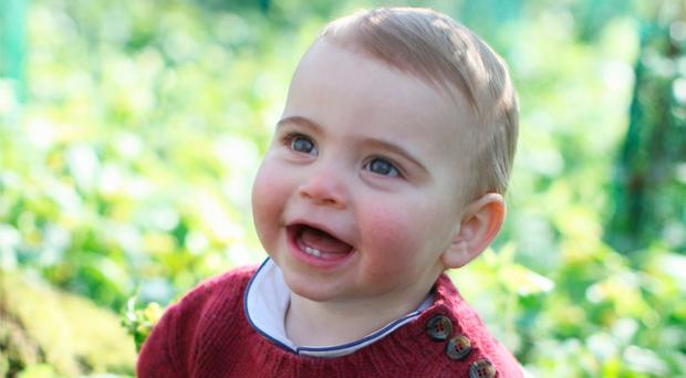 Picture of Prince Louis taken by his mother, the Duchess of Cambridge, to mark his first birthday