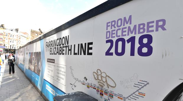 London's new east-west railway service site at Farringdon (John Stillwell/PA)