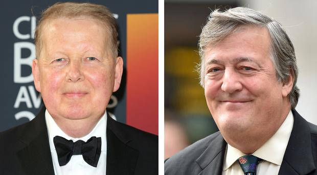 Bill Turnbull (left) and Stephen Fry have been praised for raising awareness of prostate cancer through their own experiences with the disease (PA)