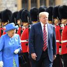 The Queen and Donald Trump (SGT Paul Randall RLC/MoD/PA)