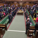 MPs observe a minute's silence in the Commons (PA)