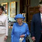 The Queen with Donald Trump, who is heading to the UK for a state visit in June (Steve Parsons/PA)