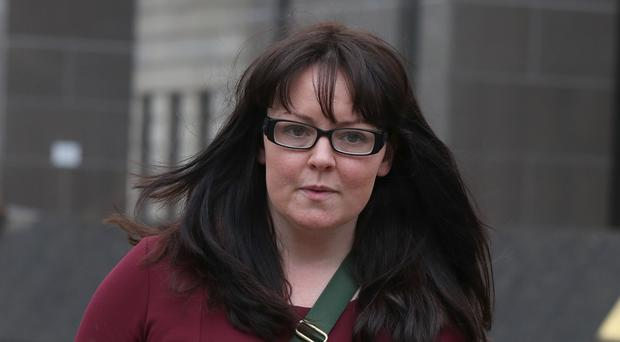 Former SNP MP Natalie McGarry leaves Glasgow Sheriff Court after admitting embezzlement (Andrew Milligan/PA)