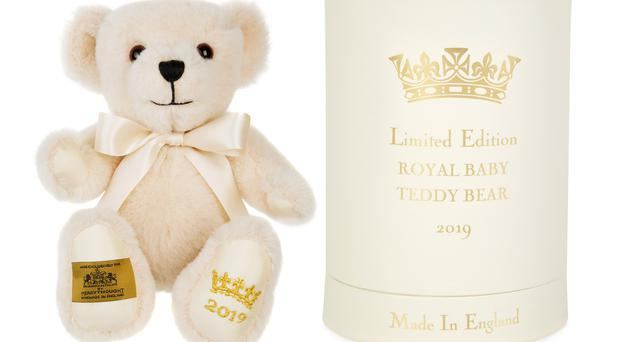 The bear and its presentation box (Royal Collection Trust/Her Majesty Queen Elizabeth II 2019/PA)