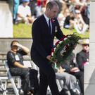 The Duke of Cambridge laid a wreath during the Anzac Day service (Brett Phibbs/SNPA via AP)