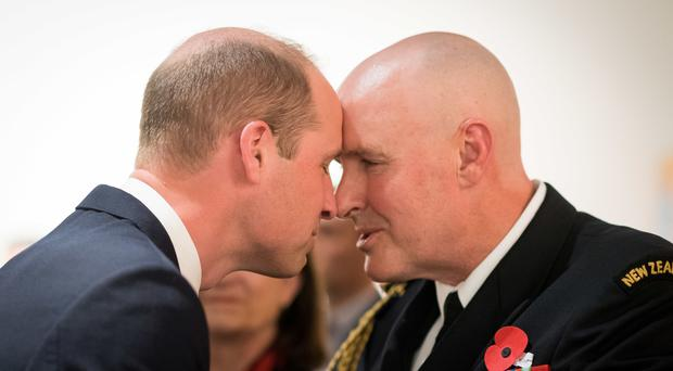 The Duke of Cambridge received a traditional Maori greeting in New Zealand (Mark Tantrum/New Zealand Government/PA)